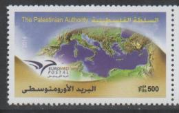 PALESTINE, 2014, MNH, JOINT ISSUE, EUROMED POSTAL, 1v - Joint Issues