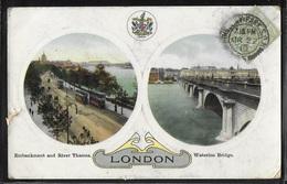 REPRODUCTION ANGLETERRE - London, Embankment And River Thames - Waterloo Bridge - River Thames