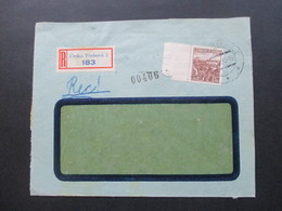 Böhmen Und Mähren 10.1939 Mitläufer M 355 Vom Seitenrand Einschreiben R Ceska Trebova 2 - Briefe U. Dokumente