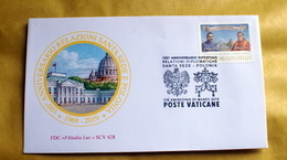 VATICAN 2019, 100TH ANNIVERSARY RELATIONSHIP WITH POLAND,  FDC - Vatican
