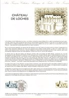 DOCUMENT FDC 1986 CHATEAU DE LOCHES INDE ET LOIRE - Documents Of Postal Services