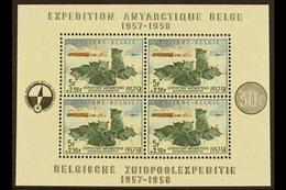 1957-58 Antarctic Exploration Miniature Sheet, Cob Block 31, SG MS1620, Never Hinged Mint (1 M/s) For More Images, Pleas - Belgium