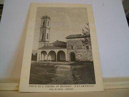 Firenze - Tavarnelle Val Di Pesa - Pieve Di S. Pietro In Bossolo - Chiesa - Cartolina Storica Originale - Ed. A. Lapucci - Firenze