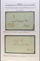 """1822-27 PRE-STAMP ENTIRE LETTERS 1822 (Oct) And 1827 (May) Both To Bogota With Oval """"HONDA / FRANCA"""" Cachet In Red On Th - Colombia"""