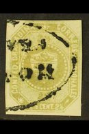 """1859 2½c Olive-green Granadine Confederation (SG 1a, Scott 1a), Very Fine Used With Part Oval """"Honda Franca"""" Cancel, Fou - Colombia"""