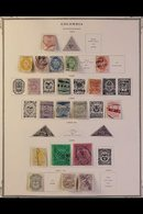 1865-1965 ATTRACTIVE COLLECTION On Pages, Mint & Used Mostly ALL DIFFERENT Stamps, Includes 1865 All Values Mostly Used, - Colombia