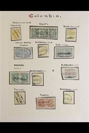 """1886-1881 POSTMARK COLLECTION An Attractive Handpicked """"Classic"""" Imperf Issues Displaying Crisp Clear Town And City Post - Colombia"""