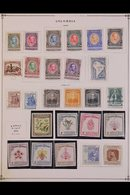"""1941-78 COMPREHENSIVE MINT & USED COLLECTION. An Extensive, Mostly All Different Collection Presented On """"Scott"""" Printed - Colombia"""