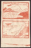 COMPANIA COLOMBIANA DE NAVEGACION AEREA 10c Brown Red Sea And Mountains, Cliffs And Lighthouse, SG 13a/14a, As A Fine Mi - Colombia