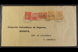 SCADTA - UNLISTED VARIETY ON COVER 1925 Cover From England Addressed To Bogota, Bearing Colombia 1c & 20c Paying Interna - Colombia
