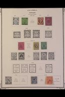 STATES & DEPARTMENTS 1860's-1900's MINT & USED COLLECTION On Pages, All Different, Includes Antioquia, Bolivar, Bogota L - Colombia