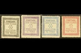 1892 (April) White Paper 1d, 1½d And 2½d Fine Mint, Toned Paper 10d Mint With Small Mark At Right, SG 1/4. (4 Stamps) Fo - Cook Islands