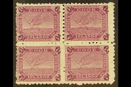 1902 6d Purple Tern, SG 34, Very Fine Mint Block Of Four. For More Images, Please Visit Http://www.sandafayre.com/itemd - Cook Islands