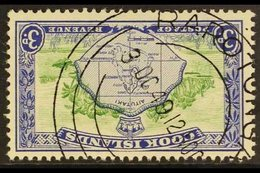 1949-61 3d Green & Ultramarine Pictorial With WATERMARK INVERTED Variety, SG 153aw, Superb Cds Used, Fresh. For More Ima - Cook Islands