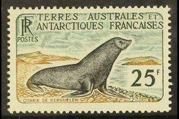 TAAF 1959-63 25fr Kerguelen Fur Seal, Yv 16, Very Fine Mint. For More Images, Please Visit Http://www.sandafayre.com/ite - France (former Colonies & Protectorates)