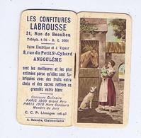 Petit Calendrier De Poche Les Confitures LABROUSSE à ANGOULÊME - Format  4 / 7,50 - Petit Format : 1921-40