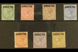 """1886 """"GIBRALTAR"""" Overprints On Bermuda Complete Set, SG 1/7, Fine Mint. (7 Stamps) For More Images, Please Visit Http:// - Gibraltar"""
