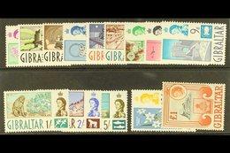 1960-62 Complete Definitive Set, SG 160/173, Never Hinged Mint. (14 Stamps) For More Images, Please Visit Http://www.san - Gibraltar