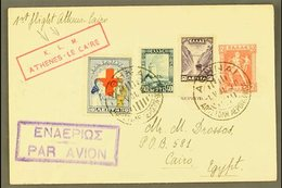 1931 FIRST FLIGHT COVER (May 1st) Athens To Cairo First Flight Cover, One Of Only 82 Covers Carried Bearing KLM Cachet.  - Greece