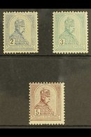1900 2k, 3k And 5k Franz Josef High Values, Mi 68/70A, Very Fine And Fresh Mint. Cat €800 (£680) (3 Stamps) For More Ima - Hungary