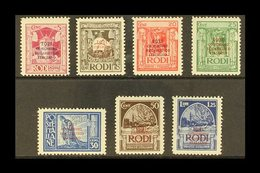 EGEO (DODECANESE ISLANDS) 1931 Eucharistic Congress Overprints Complete Set (SG 56/62, Sassone 30/36), Very Fine Mint, V - Italy
