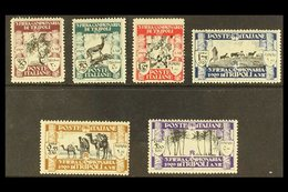 LIBYA 1929 Third Tripoli Fair Complete Set, SG 63/68 (Sassone Libya 81/86), Fine Mint, 5L Expertized A. Diena, Fresh. (6 - Italy