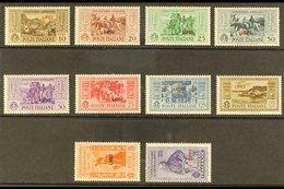 "LIPSO (LISSO) 1932 Garibaldi ""LIPSO"" Overprints Complete Set (SG 89/98 F, Sassone 17/26), Never Hinged Mint, Fresh. (10  - Italy"