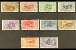 "RODI 1932 Garibaldi ""RODI"" Overprints Complete Set (SG 89/98 J, Sassone 17/26), Fine Mint Some Are Never Hinged, Fresh.  - Italy"