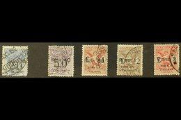 "SOMALIA MONEY ORDER STAMPS 1924 ""Segnatasse Vaglia"" Surcharges Set Less 20b On 40c, Sassone 1 & 3/6, Fine Used. (5 Stamp - Italy"