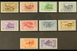 "STAMPALIA 1932 Garibaldi ""STAMPALIA"" Overprints Complete Set (SG 89/98 M, Sassone 17/26), Never Hinged Mint (20c & 1.25L - Italy"