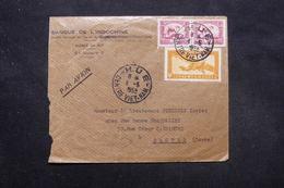 INDOCHINE - Enveloppe Commerciale De Hue Pour Bastia En 1958, Affranchissement Plaisant - L 27739 - Indochine (1889-1945)