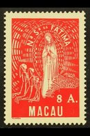 """1949 8a Scarlet """"Our Lady Of Fatima"""", SG 423, Very Fine Mint For More Images, Please Visit Http://www.sandafayre.com/ite - Macau"""
