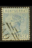 1884-85 4d Blue, Perf 14, CA Wmk, SG 11, Fine Used For More Images, Please Visit Http://www.sandafayre.com/itemdetails.a - Montserrat