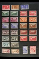 KGVI PERIOD COMPLETE VERY FINE MINT 1937-1951 Complete Basic Run, SG 98/135, Including All Of The 1938-48 Definitive Per - Montserrat