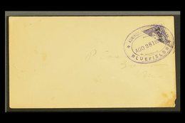 1899 (Aug 24) Cover To Greytown Bearing 1898 10c Violet Telegraph BISECT Tied By Bluefields Violet Oval Datestamp; On Re - Nicaragua