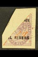 OIL RIVERS ½d On Half Of 1d Lilac, SG 7, Superb Used On Piece. For More Images, Please Visit Http://www.sandafayre.com/i - Niger (1921-1944)