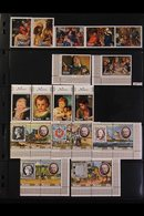 1967-1987 SUPERB NEVER HINGED MINT COLLECTION On Stock Pages, ALL DIFFERENT Complete Sets & Mini-sheets, Includes 1981-8 - Niue
