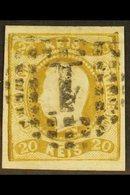 1866 20r Bistre, Imperf, Curved Label, SG 38, Very Fine Used. For More Images, Please Visit Http://www.sandafayre.com/it - Portugal