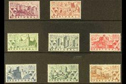 1946 Castles Complete Set, Afinsa 664/71, Mi 693/700, Very Fine Lightly Hinged Mint For More Images, Please Visit Http:/ - Portugal