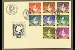 1953 Stamp Centenary Set (SG 1102/09, Mi 815/22) On Illustrated And Unaddressed FDC. For More Images, Please Visit Http: - Portugal