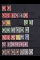 1863-1884 MINT COLLECTION On A Stock Page, Includes 1863 1d Type A Mint (4 Margins) & 1d Type B ( Unused, 4 Margins), 18 - Saint Helena Island