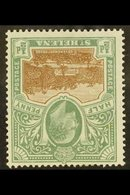 1903 ½d Brown And Grey-green With WATERMARK INVERTED Variety, SG 55w, Very Fine Mint. For More Images, Please Visit Http - Saint Helena Island