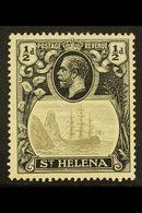 "1922-37 ½d Grey & Black ""Cleft Rock"" Variety, SG 97c, Fine Mint For More Images, Please Visit Http://www.sandafayre.com/ - Saint Helena Island"