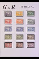 1937-49 FINE MINT COLLECTION Includes 1938-44 Complete Definitive Set With Most Being Never Hinged (incl 2s6d, 5s, And 1 - Saint Helena Island