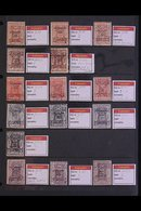 HEJAZ POSTAGE DUES 1925 Interesting Reference Collection Of Forgeries Of The 1925 Handstamped Issues (SG D163/71) Presen - Saudi Arabia
