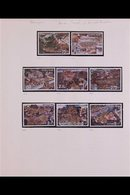 1973 NEVER HINGED MINT COLLECTION In Hingeless Mounts On Leaves, All Different, Includes 1973 King Set To 10b, 1973 Lotu - Thailand