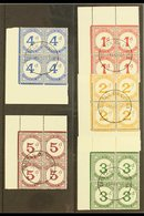 POSTAGE DUES 1957 Complete Set, SG D1/5, Superb Cds Used Corner BLOCKS Of 4 Cancelled By Crisp Upright Central Cds's, Ve - Tristan Da Cunha