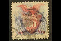 1869 30c Ultramarine & Carmine, Scott 121, Very Fine Used For More Images, Please Visit Http://www.sandafayre.com/itemde - Unclassified