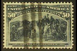 1893 50c Greenish-slate Columbian, SG 245, Scott 240, Neat Barred Cancel. For More Images, Please Visit Http://www.sanda - Unclassified