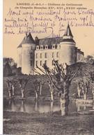 37 LIGUEIL. CPA . CHATEAU DE GRILLEMONT + TEXTE - France